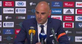 Victory boss Kevin Muscat was left to rue his side's missed chances in their 1-1 draw with Perth Glory.