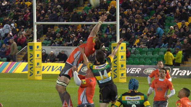 Aviva Premiership - Ally Hogg's Great Catch v Northampton Saints