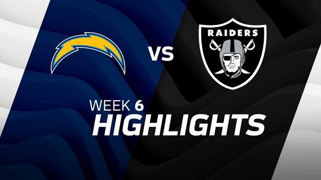 Los Angeles Chargers vs. Oakland Raiders highlights | Week 6