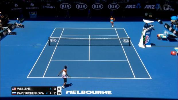 لقطة: استراليا المفتوحة: وليامز تفوز بعد ضربة خلفية رائعة