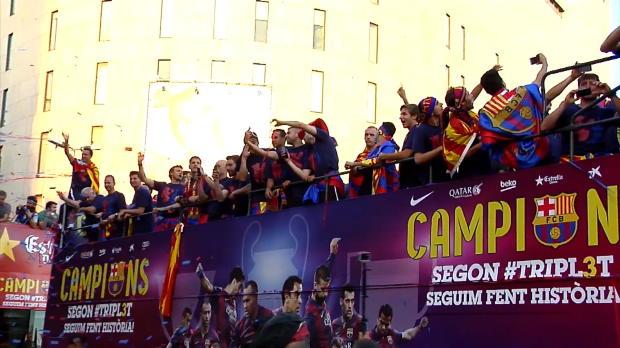 Disfruta de la Rua con los jugadores del Barcelona