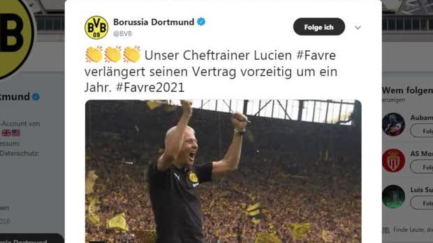 Bis 2021: Favre verlängert vorzeitig beim BVB