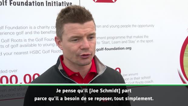 "Rugby : Irlande - O'Driscoll - ""Schmidt a besoin de repos"""