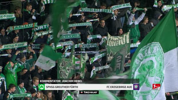 2. Bundesliga: SpVgg Greuther Fürth - Erzgebirge Aue | DAZN Highlights