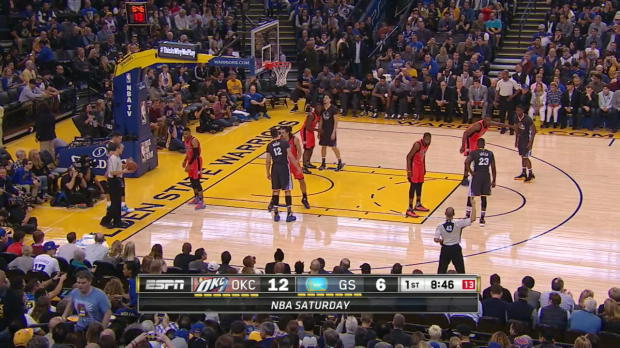 WSC: Stephen Curry with 10 Assists against the Thunder