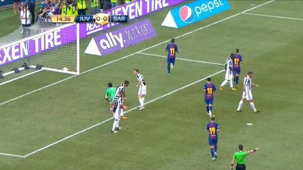 لقطة: كأس الأبطال الدوليّة: نيمار يفتتح باب التسجيل لبرشلونة أمام يوفنتوس