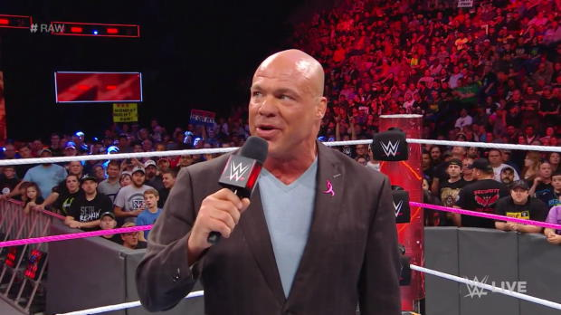 Kurt Angle announces a slew of Raw vs. SmackDown matches for WWE Survivor Series: Raw, Oct. 23, 2017