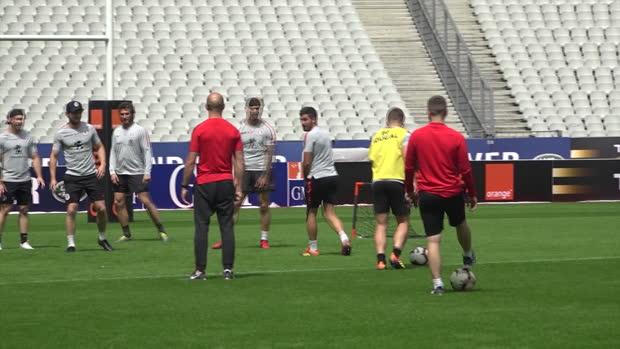 Top 14 : Top 14 - Finale : L'entraînement relax du Stade Toulousain