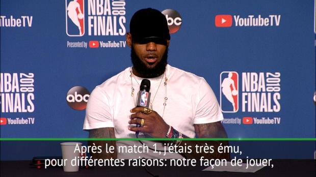"""Basket : Finale - LeBron James - """"J'ai joué les trois derniers matches avec une main cassée"""""""