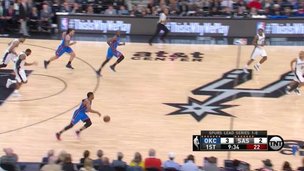 WSC: Russell Westbrook mit 29 Punkten gegen die Spurs