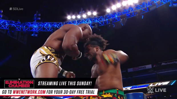 The New Day vs. Chad Gable & Shelton Benjamin - Winners face The Usos at WWE Fastlane: SmackDown LIVE, Feb. 20, 2018