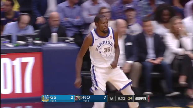 WSC: Kevin Durant 22 points vs the Pelicans