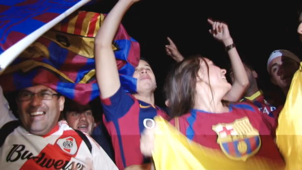 Triple perfekt! Hier feiern die Barca-Fans