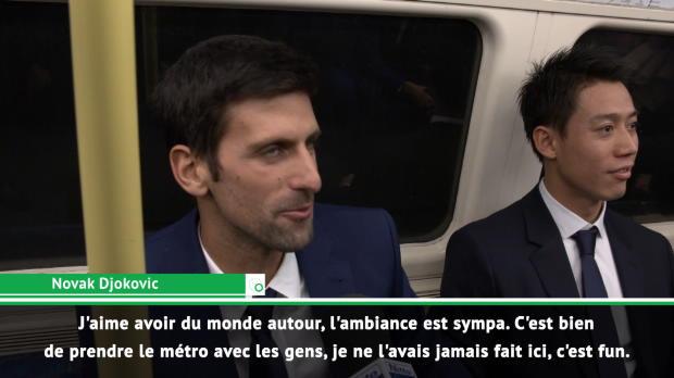 Basket : Masters - Federer et Djokovic s'offrent du bon temps dans le métro londonien
