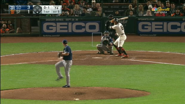 Pence's solo smash in the 5th