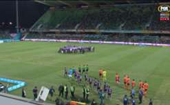 Perth Glory confirmed their spot in the Hyundai A-League Finals with a 3-1 win over Brisbane Roar on Saturday night.