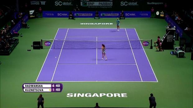 تنس: البطولة الختاميّة: كوزنتسوفا تصعق حاملة اللقب في سنغافورة