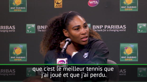 "Basket : Indian Wells - Serena - ""J'ai beaucoup de choses à améliorer"""
