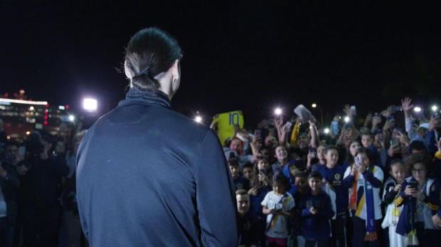 Riesen-Empfang für Zlatan Ibrahimovic in LA