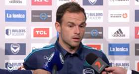Melbourne Victory's Leigh Broxham discusses the top of the table clash set to take place on Australia Day.