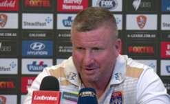 Mark Jones describes the roller-coaster of emotions he felt during the Jets' win over Brisbane on Saturday.
