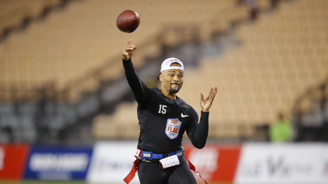 American Flag Football League Semifinal: Former NFL quarterback Seneca Wallace highlights