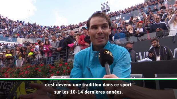 """Tennis : Rome - Nadal - """"C'était important pour moi de gagner ici"""""""