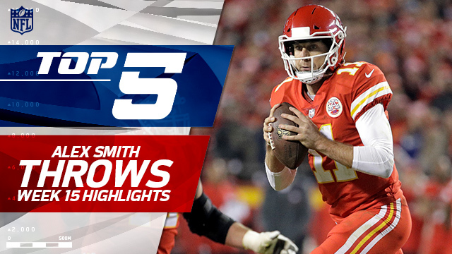 Top 5 Alex Smith throws | Week 15