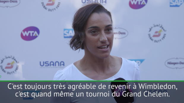 : Wimbledon - Garcia - 'C'est génial de revenir jouer sur gazon'