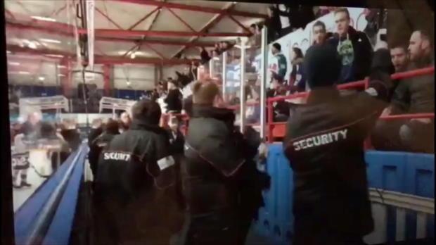 Eishockey: Spieler prügelt Fans