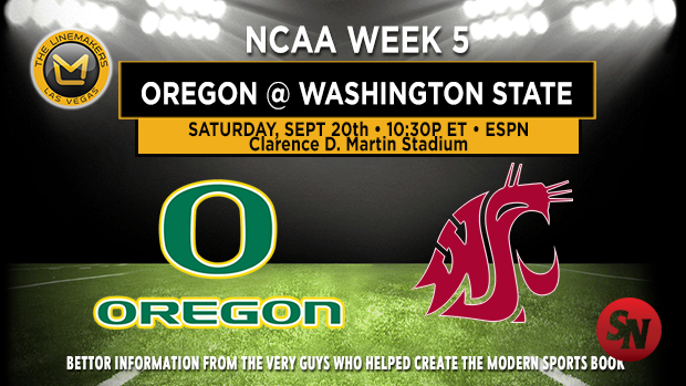 Oregon Ducks @ Washington State Cougars