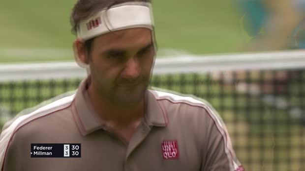 Basket : Halle - Federer se sort du piège Millman