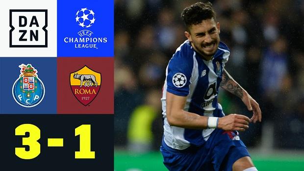 UEFA Champions League: FC Porto - AS Rom   DAZN Highlights