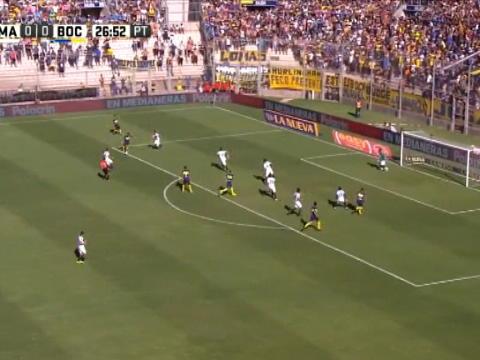 لقطة: كرة قدم: هدف رائع من بافون يمنح بوكا الفوز