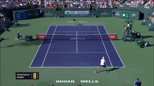 : Indian Wells - Nadal élimine Khachanov et rejoint Federer en demie