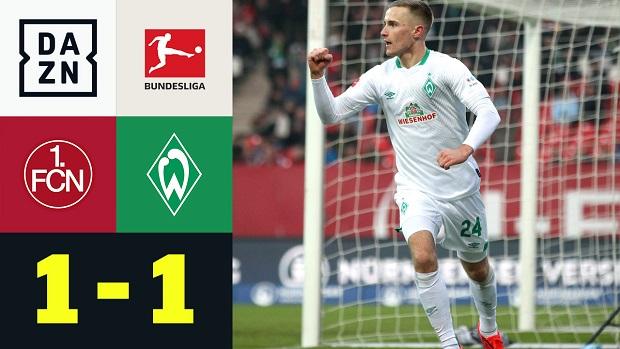Bundesliga: 1. FC Nürnberg - SV Werder Bremen | DAZN Highlights