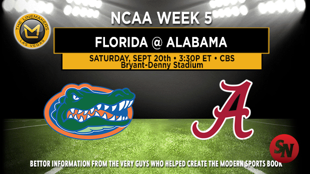 Florida Gators @ Alabama Crimson Tide