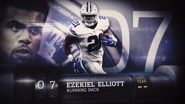 'Top 100 Players of 2017': No. 7 Dallas Cowboys running back Ezekiel Elliott