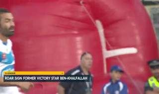 Brisbane Roar have confirmed the signing of former Melbourne Victory winger Fahid Ben Khalfallah.