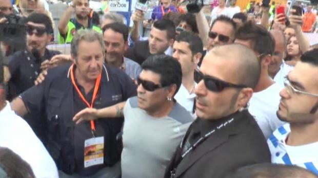 Maradona De retour à Naples