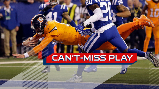Can't-Miss Play: Denver Broncos quarterback Brock Osweiler dives into end zone on 18-yard TD run