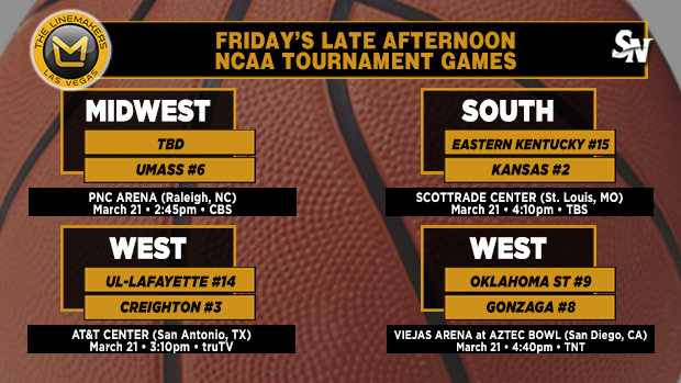 Friday's late-afternoon NCAA Tournament games