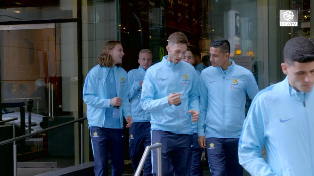 FFA TV | Caltex Socceroos team walk