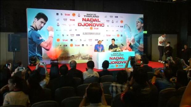 Nadal y Djokovic, se exhiben en Bangkok