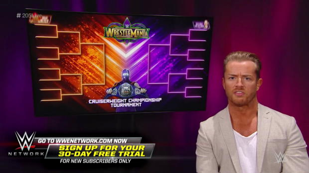 Drake Maverick reveals the WWE Cruiserweight Championship Tournament bracket: WWE 205 Live, Feb. 20, 2018