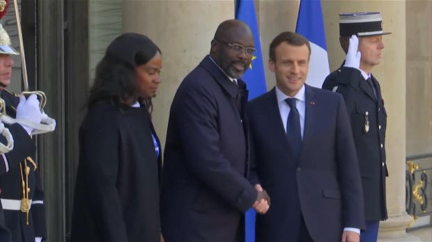 International - Weah en visite présidentielle à Paris