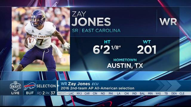 Thurman Thomas announces Bills' selection of Zay Jones No. 37 in the 2017 NFL Draft
