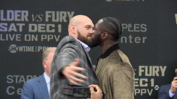 Sprüchefestival vor Fury vs. Wilder in New York