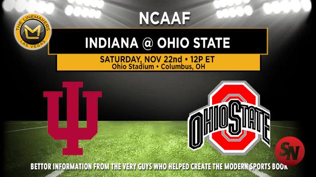 Indiana Hoosiers @ Ohio State Buckeyes