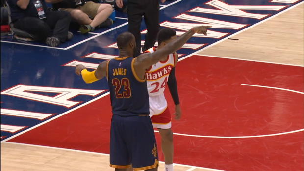 LeBron Mic'd Up During Game 2 vs. Hawks